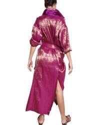Haider Ackermann - Purple Linen Silk Damask Coat - Lyst