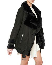 Hakaan - Black Shearling Fur Coat - Lyst