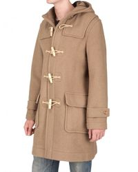 Harnold Brook | Natural Boiled Wool Duffle Coat for Men | Lyst