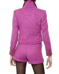 House of Holland | Purple Harris Wool Tweed Jacket | Lyst