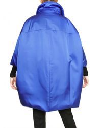 Jil Sander | Blue Shiny Silk Poplin Down Jacket | Lyst