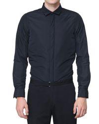 Jil Sander - Blue Techno Nylon Microfiber Padded Shirt for Men - Lyst
