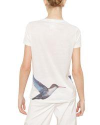Jil Sander - White Hummingbird-print Cotton T-shirt - Lyst