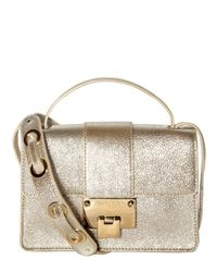 Jimmy Choo | Metallic Rebel Glitter Leather Shoulder Bag | Lyst
