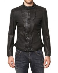 John Richmond | Black Perforated Nappa Leather Jacket for Men | Lyst