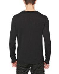 John Richmond - Black Virgin Mary Wool Knit Sweater for Men - Lyst