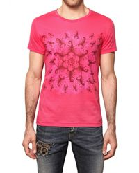 John Richmond | Pink Scorpion Print Jersey T-shirt for Men | Lyst