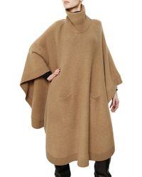 JOSEPH | Natural Wool Cashmere Knit Poncho Sweater | Lyst