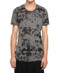 Julius | Gray Opaled Cotton Jersey T-shirt for Men | Lyst