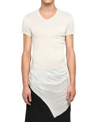 Julius | White Raw Cut Rayon Silk Jersey T-shirt for Men | Lyst