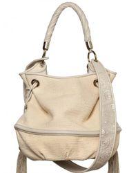 Lancel | Natural Bridget Bardo Cotton Tweed Shoulder Bag | Lyst