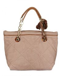 Lanvin - Natural Quilted Mini Amalia Tote - Lyst