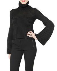 Les Copains   Black Coste Knit Degrade Sweater   Lyst