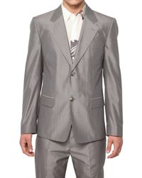 Marc Jacobs - Gray Cotton Silk Micro Check Jacket for Men - Lyst