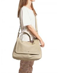 Mulberry | Natural Large Evelina Leather Satchel Top Handle | Lyst