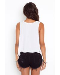 Nasty Gal - Roller Cutoff Shorts - Jet Black - Lyst