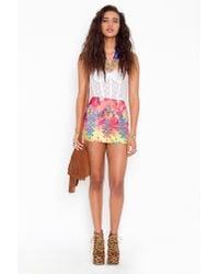 Nasty Gal - Pink Tribal Bandage Skirt - Lyst