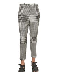 Neil Barrett | Black Prince Of Wales Stretch Wool Trousers for Men | Lyst