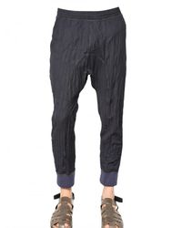 Neil Barrett - Blue Extreme Creased Wool Grisaille Trousers for Men - Lyst