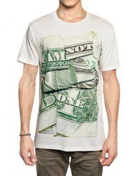 Neil Barrett | White Dollar Print Jersey T-shirt for Men | Lyst