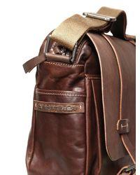 Peuterey - Brown Pc Holder Leather Messenger Bag for Men - Lyst