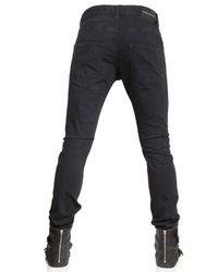 Balmain - Black 17cm Stretch Denim Super Skinny Jeans for Men - Lyst