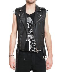 Balmain | Black Waxed Cotton Gabardine Kiodo Vest for Men | Lyst