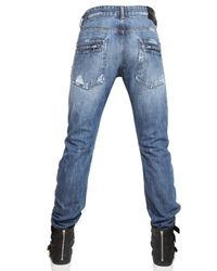 Balmain | Blue 18cm Engineered Denim Jeans for Men | Lyst