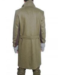 Pringle of Scotland - Green Wool Felt Coat for Men - Lyst