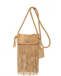 Ralph Lauren | Natural Suede Fringe Shoulder Bag | Lyst