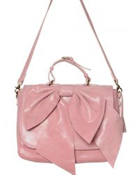 RED Valentino | Pink Laminated Leather Bow Shoulder Bag | Lyst