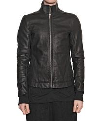 Rick Owens | Black Cow Leather Jacket for Men | Lyst