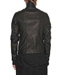 Rick Owens - Black Cow Leather Jacket for Men - Lyst