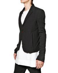 Rick Owens | Black Silk Georgette On Silk Twill Short Jacket for Men | Lyst