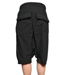 Rick Owens | Black Harem Shorts for Men | Lyst