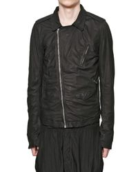 Rick Owens | Black Velo Soft Leather Jacket for Men | Lyst