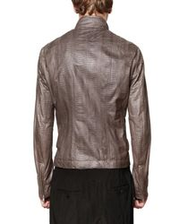 Rick Owens | Brown Serpent Leather Jacket for Men | Lyst