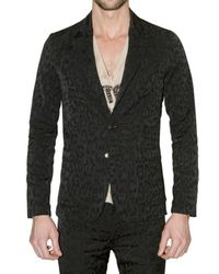 Roberto Cavalli | Black Jaguar Jacquard Slim Fit Jacket for Men | Lyst