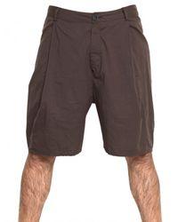 Silent - Damir Doma - Brown Cotton Poplin Shorts for Men - Lyst