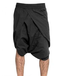 Silent - Damir Doma | Black Cotton Poplin Sarong Shorts for Men | Lyst