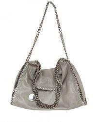 Stella McCartney - Gray Falabella Chain Eco Leather Shoulder Bag - Lyst