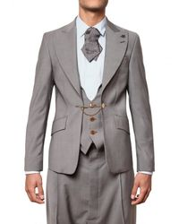 Vivienne Westwood | Gray Cool Wool Chained Vest Jacket for Men | Lyst