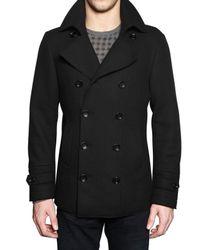 Z Zegna - Black Heavy Wool Jersey Pea Sport Jacket for Men - Lyst