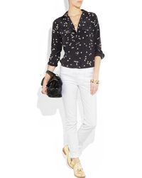 7 For All Mankind - White Roxanne Skinny Jeans - Lyst