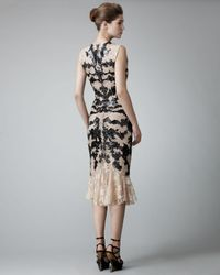Alexander McQueen - Black Leather Lace Dress - Lyst