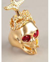 Alexander McQueen | Metallic Dagger Skull Ring | Lyst