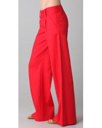 Alice + Olivia - Red Eric Pants - Lyst
