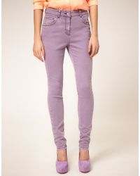 ASOS Collection | Purple Asos High Waisted Skinny Jean in Lilac | Lyst