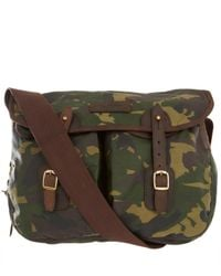 Barbour | Green Camouflage Waxed Cotton Satchel for Men | Lyst