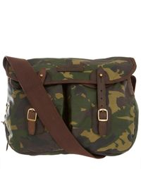 Barbour - Green Camouflage Waxed Cotton Satchel for Men - Lyst